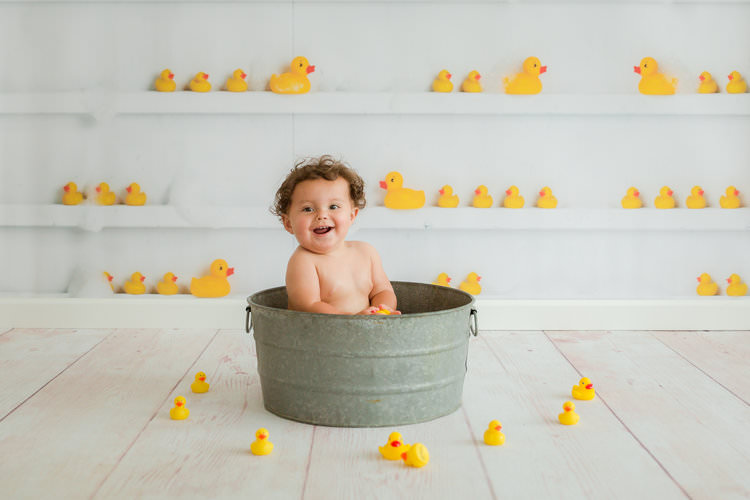 rubber duckie first birthday photos