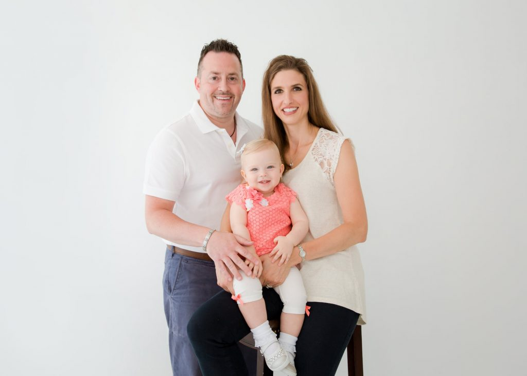 in studio family photo
