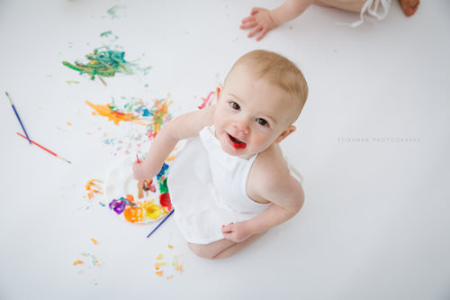one year old painting party