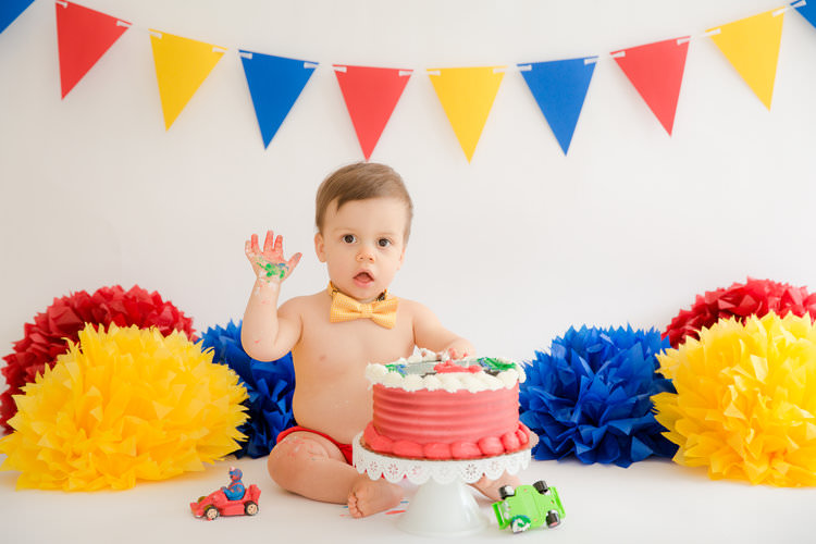 sesame street cake smash photos