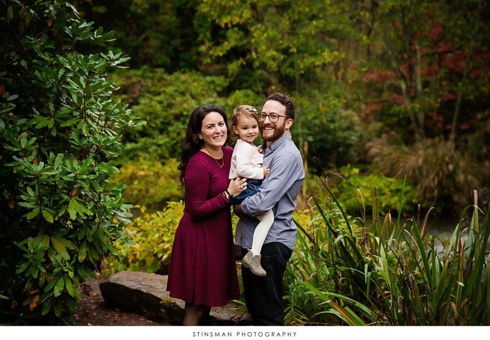 family photo at sayen gardens in hamilton nj