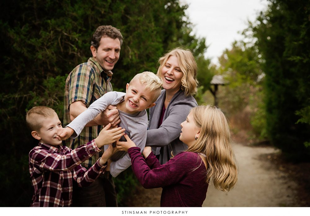 family having fun during photo shoot