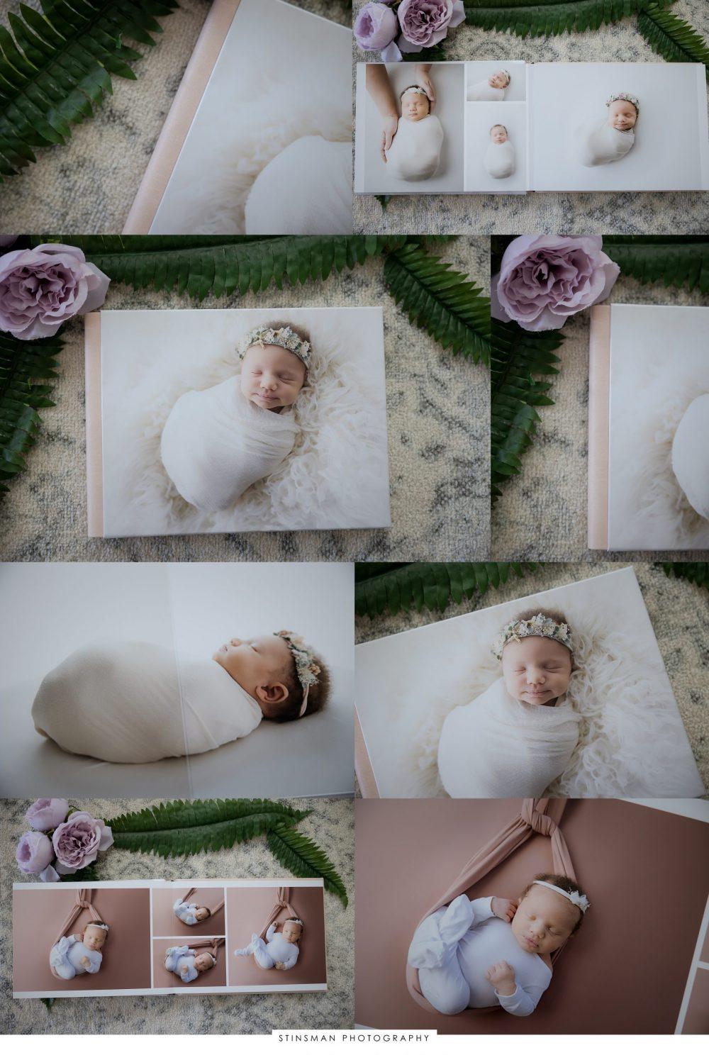 newborn session custom photo album from south jersey newborn photographer